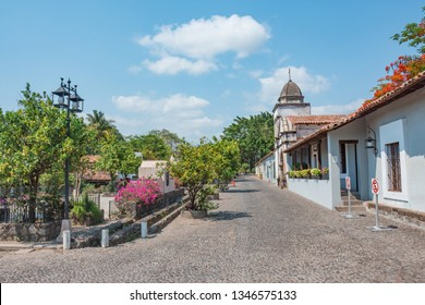 Beautiful white town of Comala in Colima, Mexico