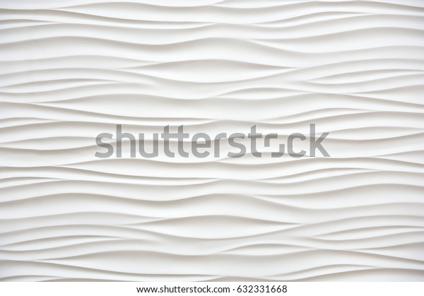 Beautiful white wall in the form of waves