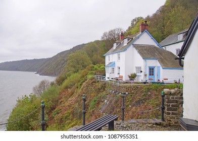 A beautiful white washed cottage in the small village of Clovelly in the northern part of Devon, England