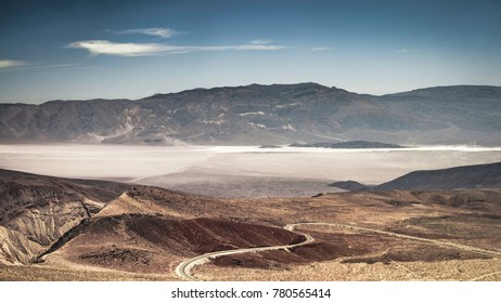Beautiful wide open vista of the Death Valley National Park from Father Crowley Vista Point in summer (California) - horizontal