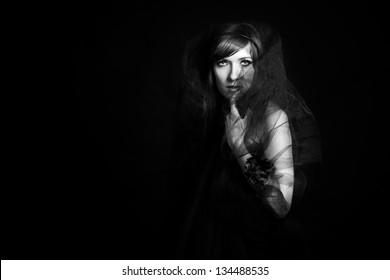 Beautiful widow from the dark.