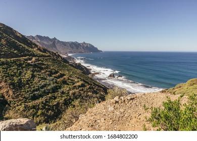 Beautiful Wild Coastline in Anaga, Tenerife, Spain