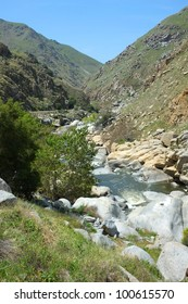 The beautiful and wild Kern River dashes down the canyon from the Sierra Nevada Range into the Southern San Joaquin Valley, California