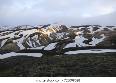 beautiful wild nature in hiking the laugavegur trail in Iceland