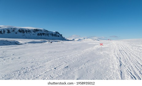 beautiful wild snowy winter landscape of Sarek national park in swedish lappland - Shutterstock ID 1958935012