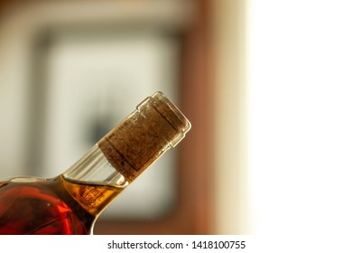 A beautiful wine bottle, alcohol, problems with alcohol drinking