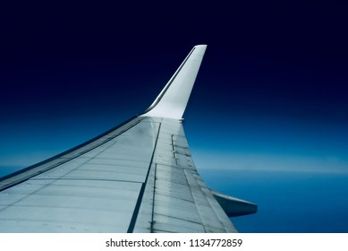 A beautiful wings of an aircraft isolated object unique photograph