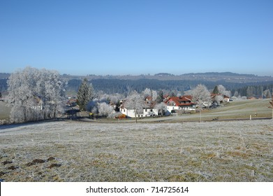 Beautiful winter landscape of Allgau, Germany