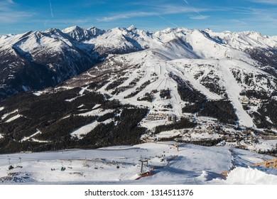 Beautiful Winter Landscape Skiing At Katschberg In Carinthia Austria