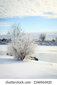 Beautiful winter morning on a small lake near Georgetown, Kentucky