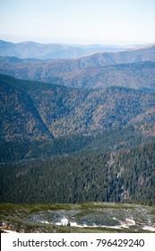 Beautiful winter mountain landscape in national park