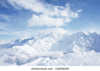Beautiful winter mountains, high definition