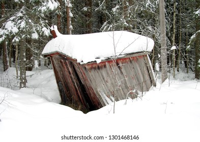 Beautiful winter scenes in the snow covered forests of Dalarna in Sweden.