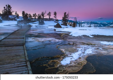 Yellowstone National Park Winter Images Stock Photos