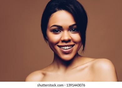 Beautiful woman. Beauty African american young spa model portrait