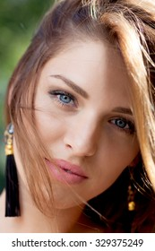 Beautiful woman with Blue Eyes