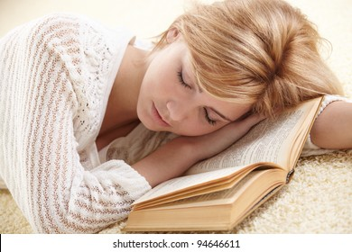 beautiful woman with book