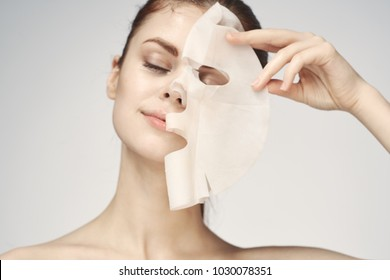 beautiful woman, cleansing, mask