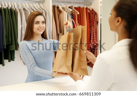 working in a clothing boutique