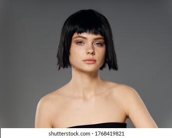 Women Short Dark Hair Images Stock Photos Vectors Shutterstock