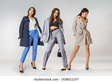 Beautiful woman - woman in different outfits