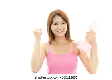 Beautiful woman doing fitness