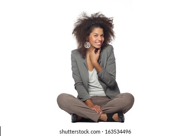 Beautiful woman doing funny poses
