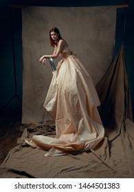 Beautiful woman dress elegant style cosplay medieval kingdom