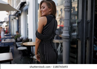 Beautiful woman in the dress, red dress,black dress, hairstyle, cheer, young,makeup, flawless, posing, long hair, blonde, model, photo shooting, white dress, happy woman, lips, perfect body, laughing