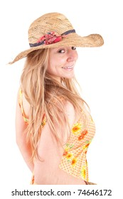 Beautiful woman dressed for summer - isolated