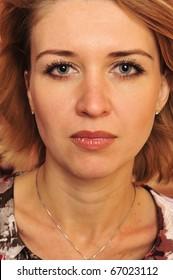 Beautiful Woman. Emotional Photo
