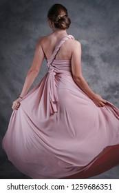 Beautiful woman in Evening dress.