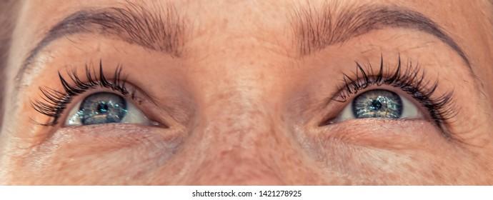 Beautiful woman eyes sight vision
