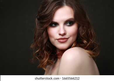 beautiful woman face makeup girl