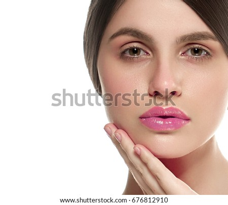 Beautiful skin woman