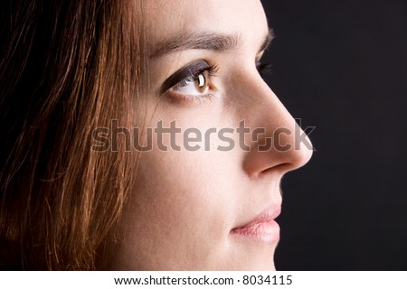 Beautiful Woman Face Side View Stock Photo Edit Now 8034115