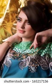 Beautiful woman. Fashion portrait