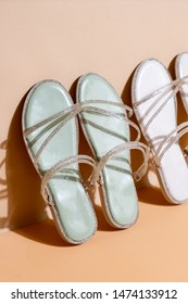 beautiful woman fashion shoes or sandals