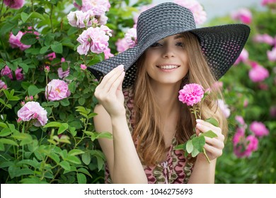 Beautiful woman in flowers
