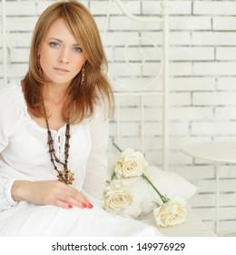 Beautiful woman, glamour style