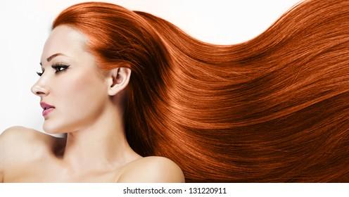 Beautiful Woman. Healthy Long Hair. Beauty Model Woman. Hairstyle. Woman Spa