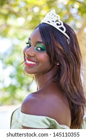 Beautiful Woman in her twenties wearing a Tiara