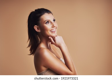 Beautiful woman isolated over background