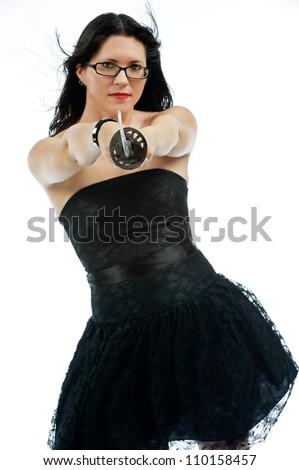 Beautiful Woman Little Black Dress Tall Stock Photo Edit Now