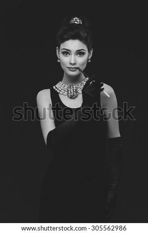 Beautiful woman looking like
