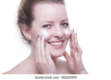 Beautiful woman with makeup