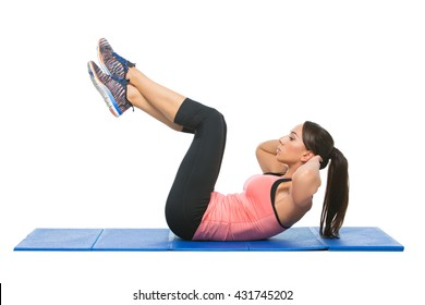 Beautiful woman making sport exercise