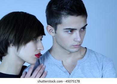 beautiful woman and man