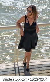 beautiful woman model posing in everyday life