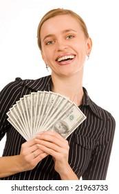 Beautiful woman with money 6